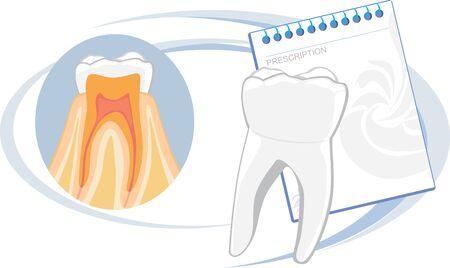 dental treatment: Healthy teeth. Prescription
