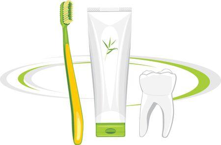 pasta dental: Cepillo de dientes y pasta de dientes orgánica