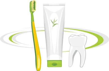 toothpaste: Toothbrush and organic toothpaste