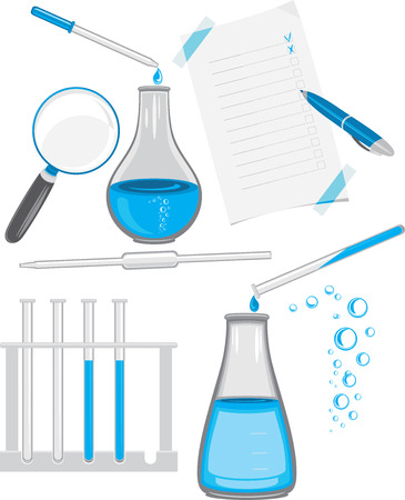 glass bottle: Chemical laboratory glassware
