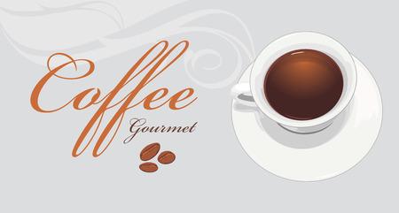 gourmet: Coffee gourmet. Label for design