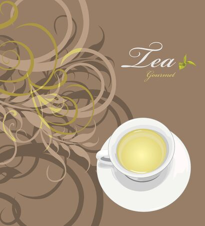 gourmet: Tea gourmet. Pattern for wrapping design Illustration