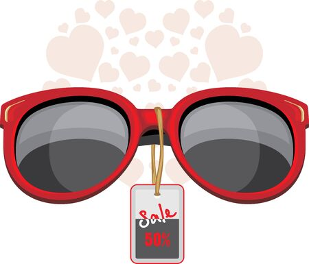 eyewear fashion: Trendy red sunglasses. Sale