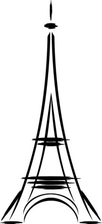 Eiffel tower abstract. Sketch