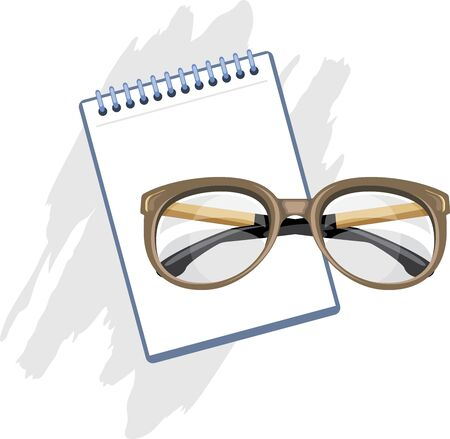 rimless: Prescription for reading glasses Illustration