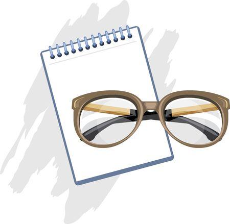 rimless: Prescription for reading glasses Illustration