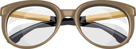 Leesbril geïsoleerd op het witte