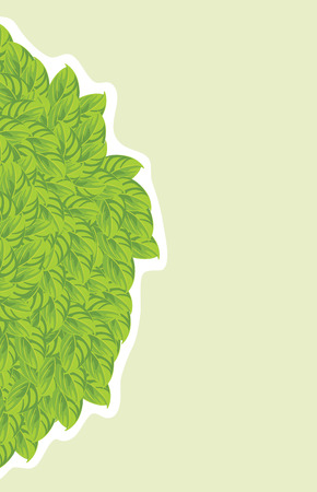 leafy: Leafy background Illustration