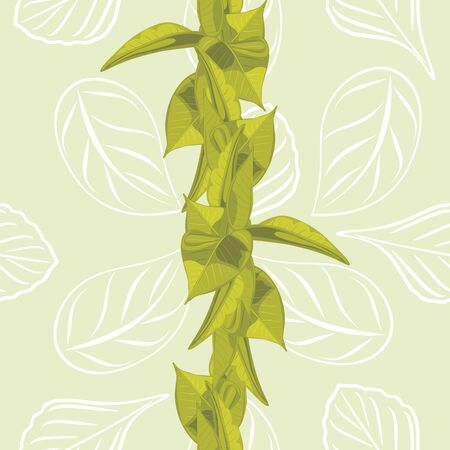 leafy: Seamless leafy background for wrap design