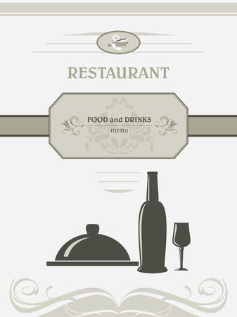 title page: Restaurant menu. Title page for design