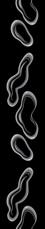 droplets: Water droplets on a black background. Seamless border Illustration