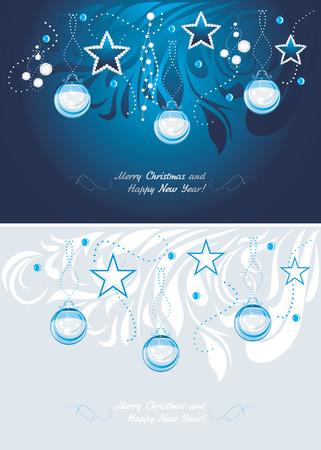 christmas garland: Christmas background. Postcard