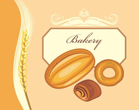 deliciously: Bakery. Label for bakery shop design