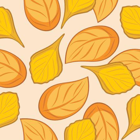 leafy: Seamless autumn leafy background for wrap design Illustration