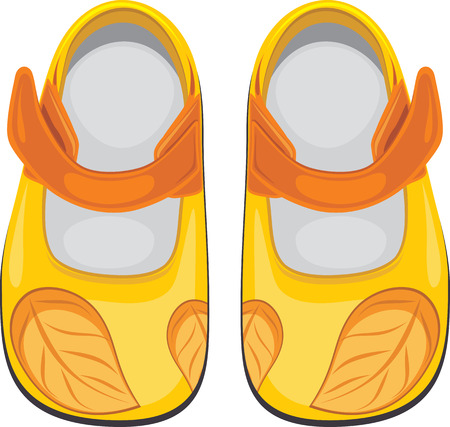 shoe: Kids shoes isolated on the white Illustration