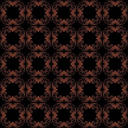 victorian vintage: Dark brown ornamental background for vintage design