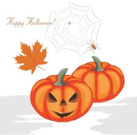 frightful: Halloween pumpkins and spiders