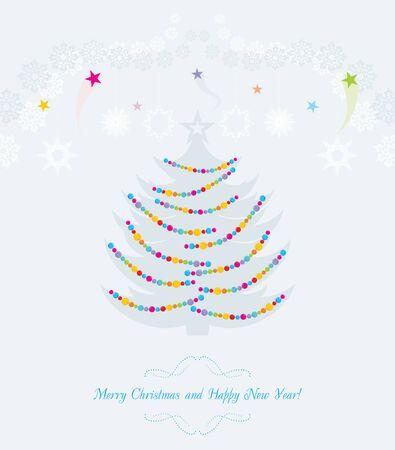 christmas postcard: Christmas tree. Vintage postcard