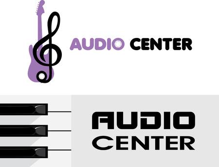 logotype: Audio center. Logotype