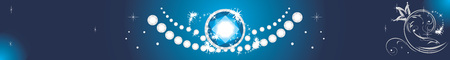 jewels: Sparkling diamonds on a blue background. Banner