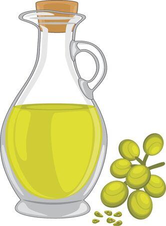 grape seed: Grape seed oil Illustration