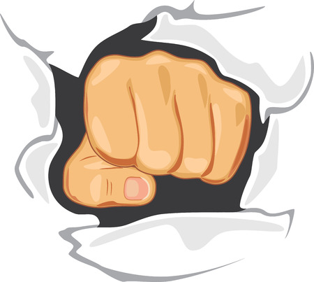 determination: Fist through the wall. Determination