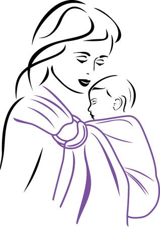 sling: Baby sling carrier