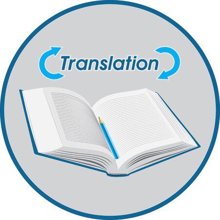 translation: Translation. Icon for design Illustration