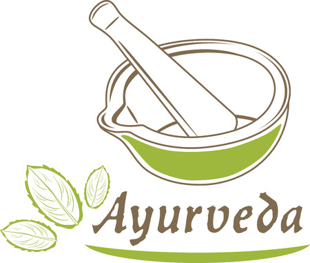ayurveda: Ayurveda. Icon for design Illustration