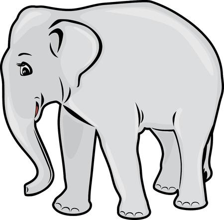 dessin au trait: L'éléphant. Dessin au trait Illustration