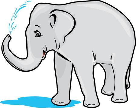 pampered: Elephant bathing