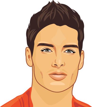 Portret młodego mężczyzny pięknego