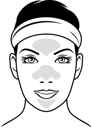 cleansing: Cleansing pore strips vector