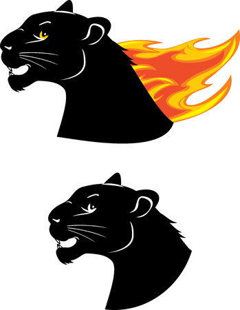 Head of the black panther Vector illustration. Ilustrace