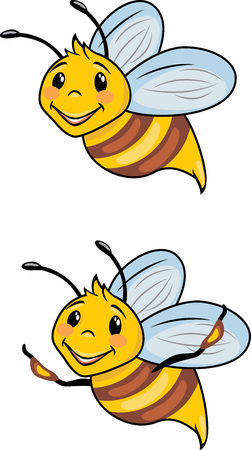 Funny cartoon bees.