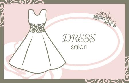 Dress salon. Card for fashion design