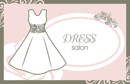 Dress salon. Card for fashion design