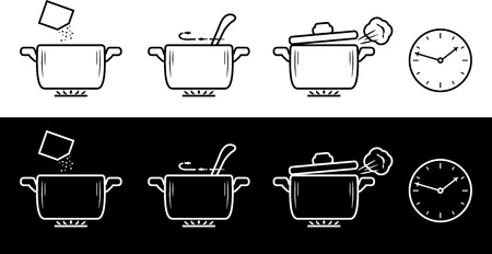 Cooking method in four steps