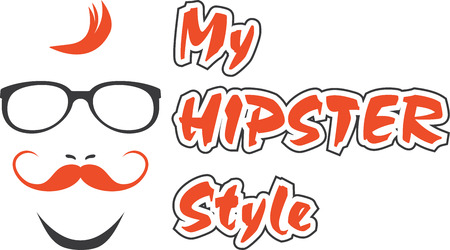 My hipster style. Sign for design