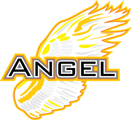 Angel wing. Sign for design Standard-Bild - 115103140