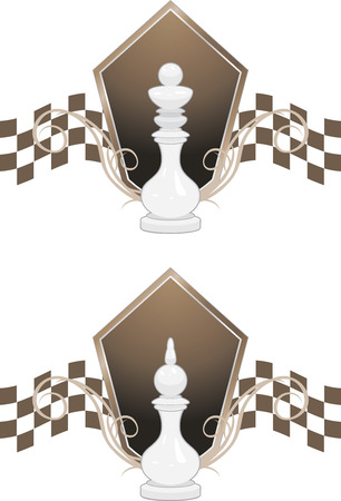 White chess king and queen Stock Vector - 122613729