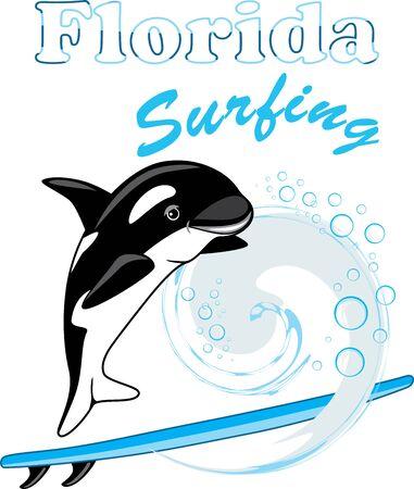Dancing orca. Florida surfing