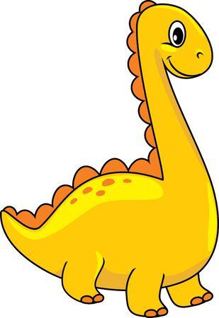 Funny yellow dino