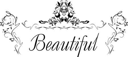 Beautiful decorative element for design