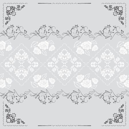 Vintage ornamental seamless background for design Illustration