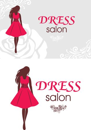 Logo and business card for dress salon