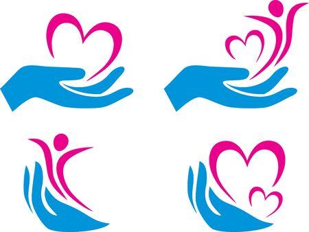 Four health care symbols Stock Vector - 129193116