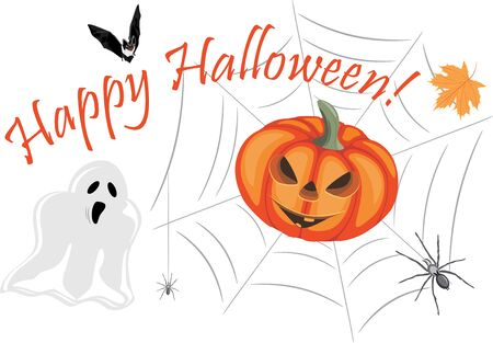 Happy Halloween Design for greeting card Stock Vector - 131854661