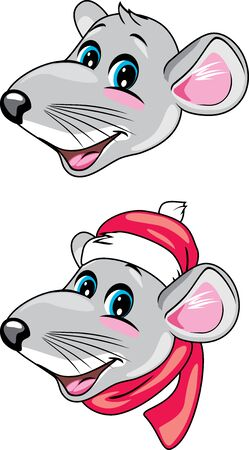Funny rat head Stock Vector - 133928163