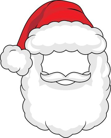 Santa claus mask isolated on white